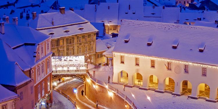Sibiu-Romania-old-town-landmark-Liars-bridge-in-winter-with-Christmas-lights-decoration1